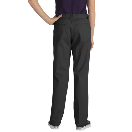 858be2f998b Dickies - Girls  School Uniforms Plus Size Classic Fit Stretch Twill Pant -  Walmart.com