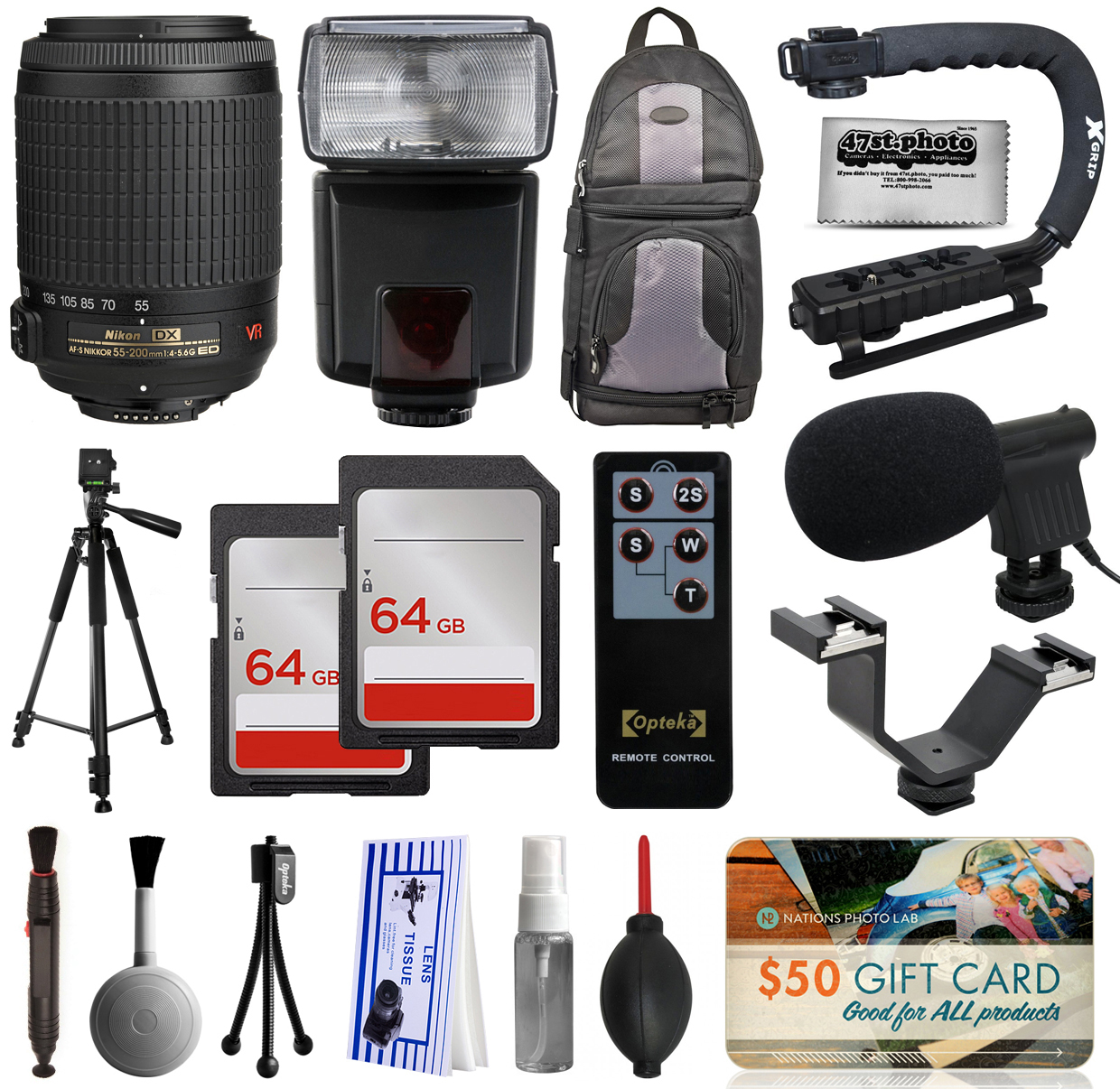 Must Have Accessory Bundle with Nikon VR 55-200mm Lens + ...