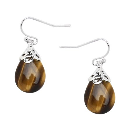 Chunky Tigers Eye - Falari Natural Stone Tear Drop Shaped Earring Tiger Eye E0320-TE