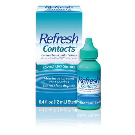 Refresh Contacts® Contact Lens Comfort Eye Drops 0.4 fl. (Best Eye Drops To Use With Contact Lenses)