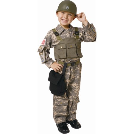 Dress Up America  Boy's Solider Navy SEAL Army Special Forces Costume (Funny Army Costume)