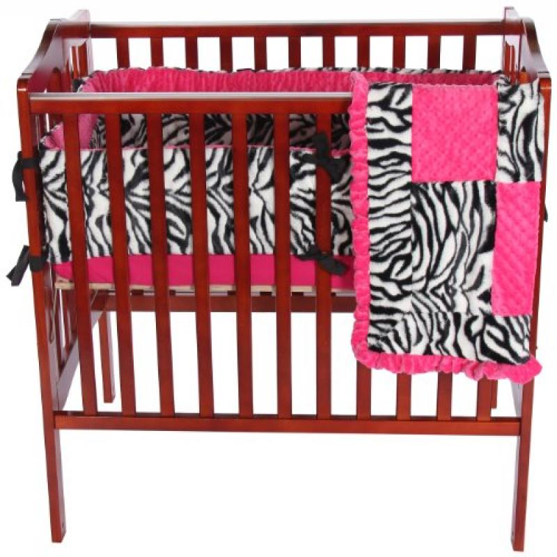 Baby Doll Bedding Zebra Minky Mini Crib/ Port-a-Crib Bedd...