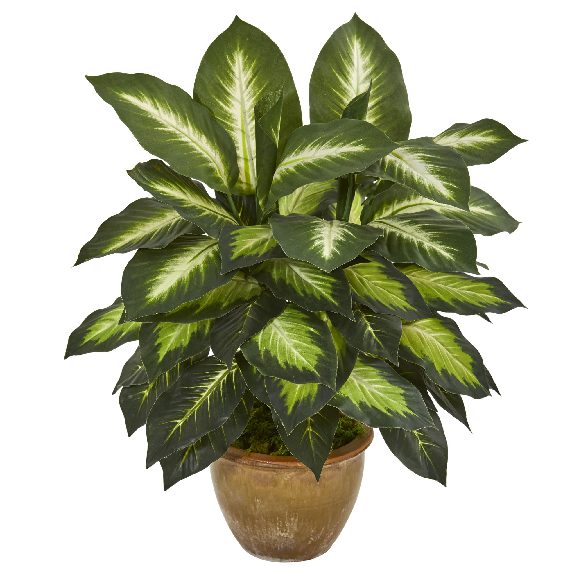 Nearly Natural Dieffenbachia Artificial Plant in Ceramic Planter