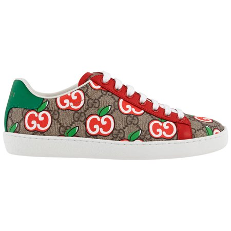 Gucci Ladies Ace Sneaker With GG Apple Print, Brand Size 36 ( US Size 6 )