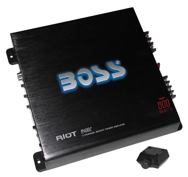 Boss R4002 Riot MOSFET 800W 2-Channel Power Amplifier
