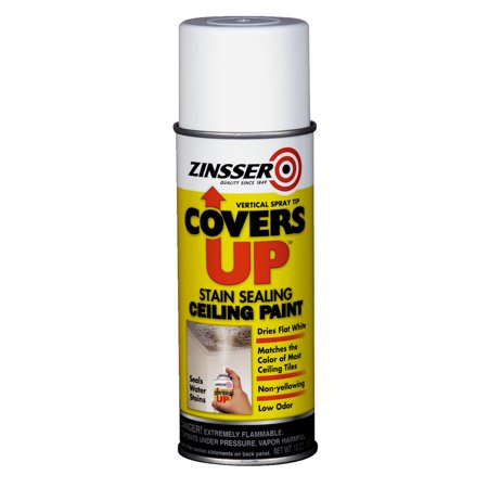 (Zinsser COVERS UP Stain Sealing Spray Oil-Base Flat Ceiling Paint)