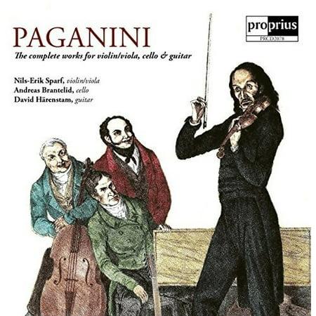 Niccolo Paganini: The Complete Works for Violin / Viola Cello & Guitar