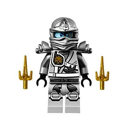 LEGO Ninjago Silver Zane (Zukin Robes) Minifigure - Ninjago Zane