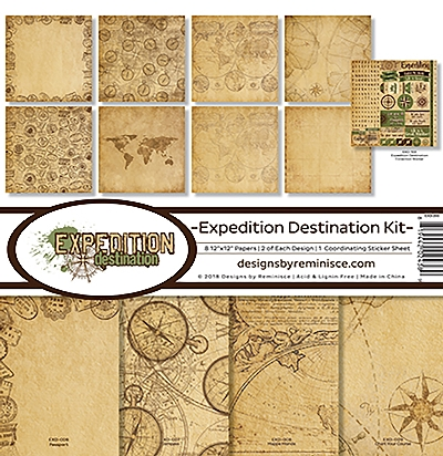 "Reminisce Collection Kit 12""X12""-Expedition Destination"
