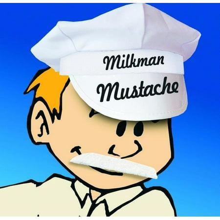 White Mustache Costume (Self Adhesive Milkman Costume Mustache White One)