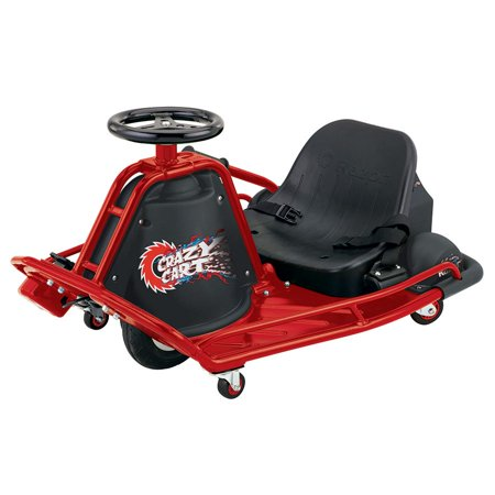 Razor Crazy Cart Electric 360 Spinning Drifting Kids Ride On Outdoor Go Cart ()