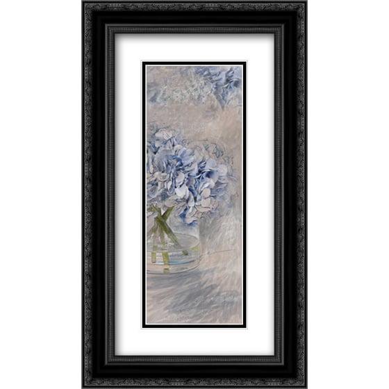 7e8aafb571b Hydrangea 2 2x Matted 14x24 Black Ornate Framed Art Print by Butcher ...