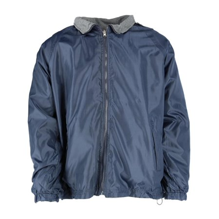 Men's Reversible Fleece and Windbreaker Rain Jacket,  - Navy Windbreaker
