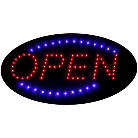 FlashingBoards® Animated LED Neon Light Shop Business Open Sign Oval