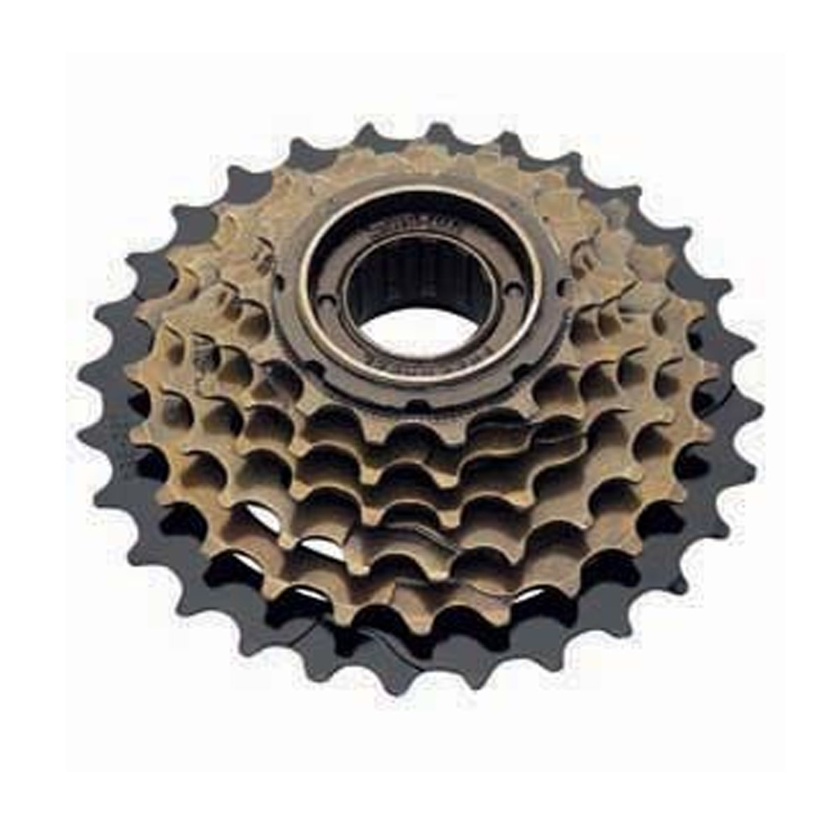 SunRun Six Speed Freewheel, 14-28T, Brown