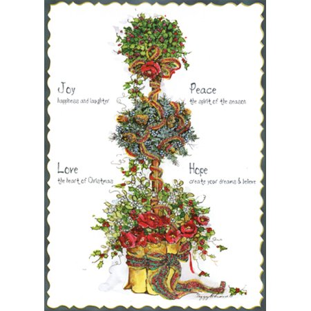 Peggy Abrams Ornament (LPG Greetings Flowers and Holly Topiary Tree : Peggy Abrams Pop Out 3-D Christmas)