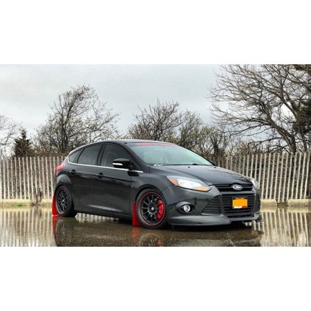 1951 Ford Sedan - Ford Focus 5dr / Sedan 2012-2014 BDS Style 1 Piece Polyurethane Front Lip