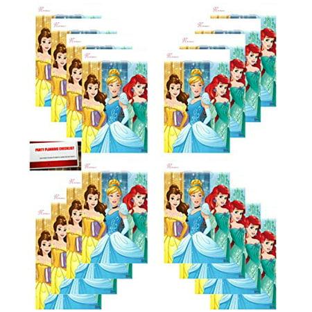Princess Dream Big Disney (16 Pack) Party Plastic Loot Treat Candy Favor Bags Princess Aurora, Cinderella, Belle (Plus Party Planning Checklist by Mikes Super Store)](Disney Halloween Treat Part 7)
