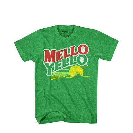 Coca-Cola Mello Yello Soda Pop Drink Vintage Logo Men's T-Shirt