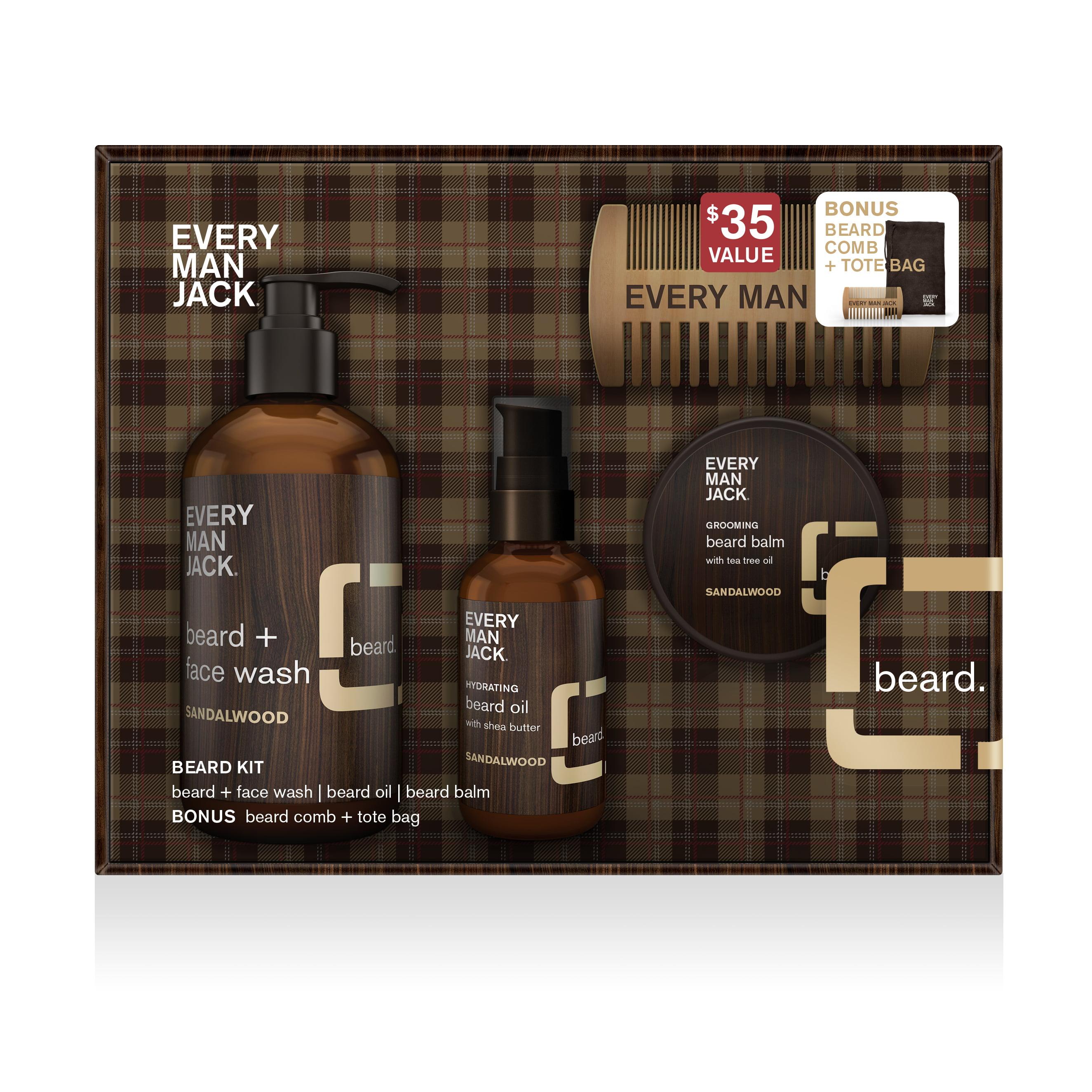 Every Man Jack Emj Beard Kit Sandalwood Walmart
