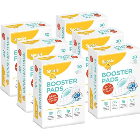 Diaper Doublers (Sposie Diaper Booster Pads Diaper Doublers, 180 count, 6 packs of 30 pads, Value)