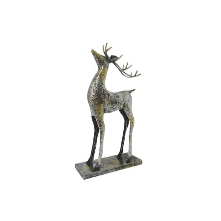 Iron Deer Decor: Oxidized Silver, 10.5 x 18.5 inches