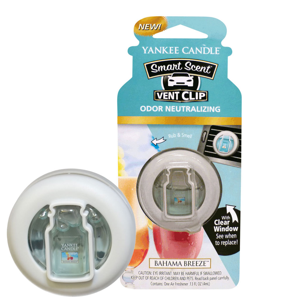 Yankee Candle Smart Scent Vent Clip Car & Home AC Air Freshener, Bahama Breeze