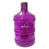 AquaNation 1 Gallon BPA FREE Reusable FDA Grade Chemical Free Plastic Drinking Water Big Mouth Bottle Jug Container with Holder Drinking Canteen (Purple)