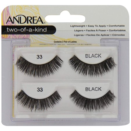 False Eyelashes Strip Lash Twin Packs, Two of a Kind 33, Lightweight By Andrea ()