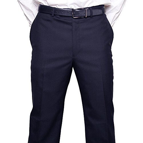 Calvin Klein Dress Pants For Men Classic Flat Front Style Trousers,44W x 30L,Navy