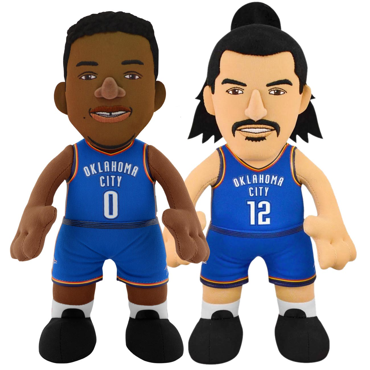 "Bleacher Creatures NBA Oklahoma City Thunder Russell Westbrook and Stephen Adams 10"" Plush Figures.."