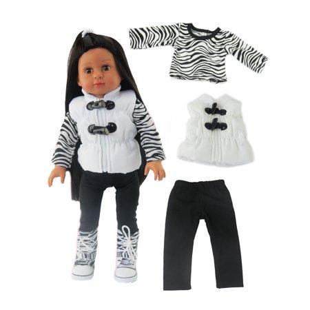 - Zebra Winter Pant Set   Fits 18