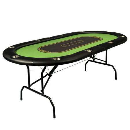 Franklin Sports Deluxe Foldable 10-Player Poker (Money In The Middle Of Poker Table)