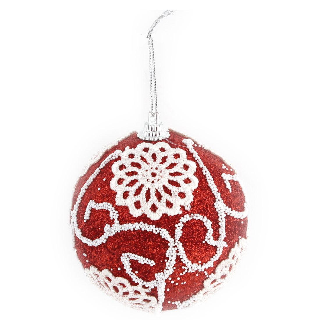 Unique Bargains Home Christmas Tree Applique Decor Artificial Collectible Crafts Hanging Ball