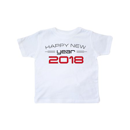 2a64bc341 Inktastic - Happy New Year 2018 red Toddler T-Shirt - Walmart.com