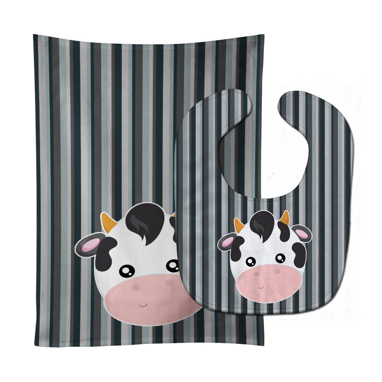 Cow Face Baby Bib & Burp Cloth BB6926STBU
