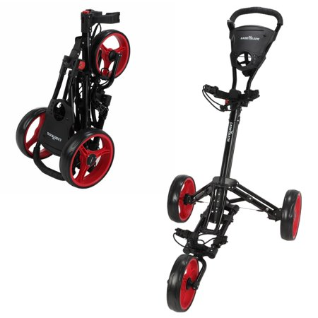 Caddymatic Golf X-Lite One-Click Folding Pull/Push Golf Cart Black/Red - image 2 of 2