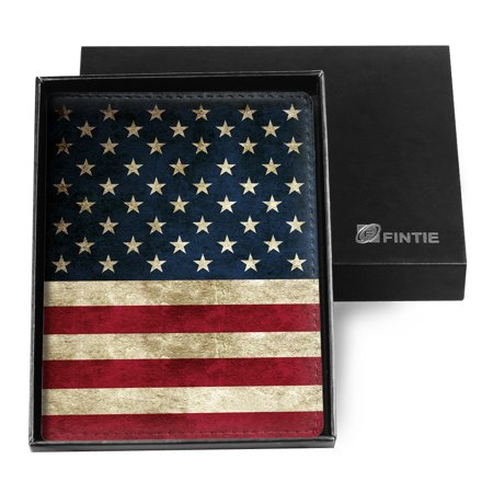 Fintie Passport Holder Travel Wallet RFID Blocking Case Cover - Securely Holds Passport, Boarding Passes, US Flag