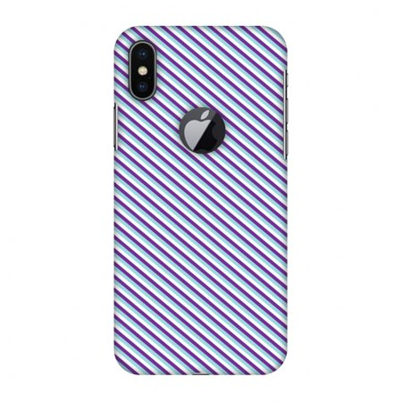 new style 1689c 8e970 iPhone X Case - Checkered In Purple, Hard Plastic Back Cover. Slim Profile  Cute Printed Designer Snap on Case with Screen Cleaning Kit