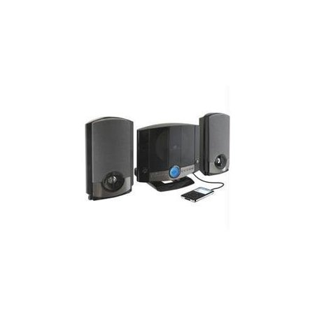 - GPX - Micro Home Music System w/ Remote & AM/FM Radio, Wall-Mountable