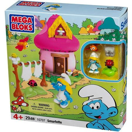 The Smurfs Mega Bloks Smurfette Play Set