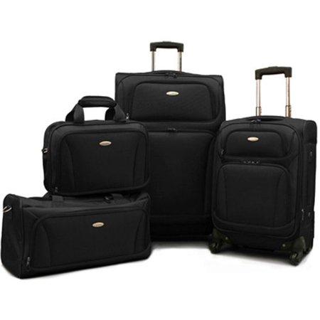 American Tourister Premium 4 Piece Lightweight 1680D Set (20,28 Spinner, Boarding & Duffel) (4 Piece Duffel)