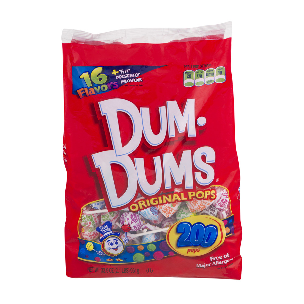 Dum-Dums Original Pops - 200 CT