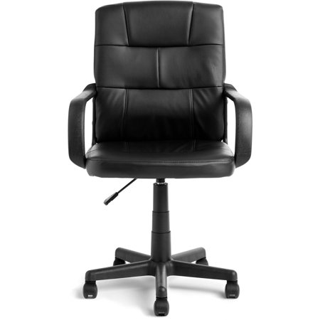 Mainstays Tufted Leather Mid-Back Office Chair, Multiple