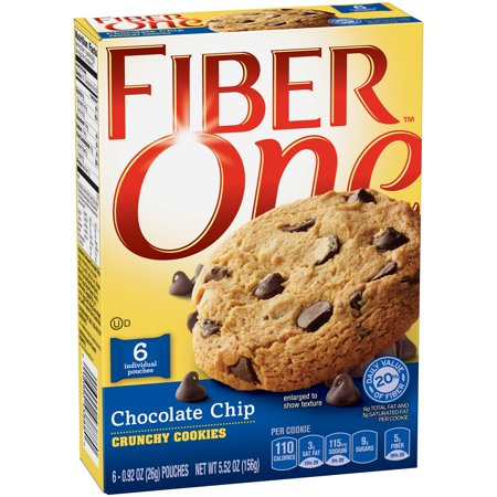 Fiber One Chocolate Chip Crunchy Cookies  0 92 Oz  6 Count