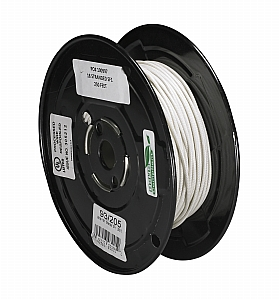 Satco 18/1 Stranded Braid 200 Degree C SF-1 Wire 250 Ft Spool White