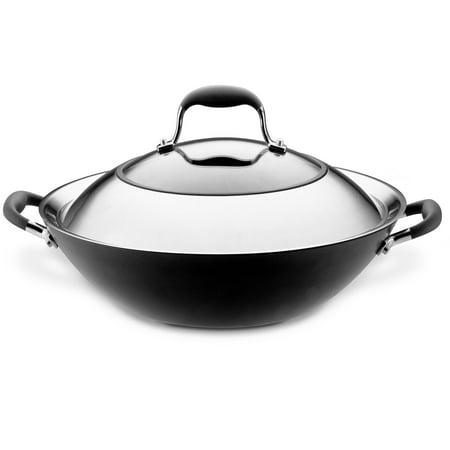 Anolon Advanced 14 Inch Covered Wok Nonstick Stir Fry Pan