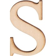 """Wood Letters & Numbers 1.5"""""""" 2/Pkg-S"""