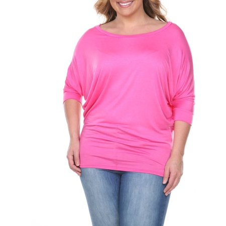 Women's Plus Size Dolman Top - Plus Size Corsette
