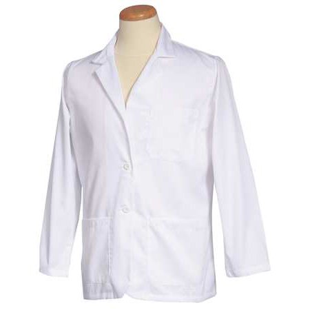 FASHION SEAL 175 XL Consultation Jacket, XL, White, 30 In. L White Consultation Coat